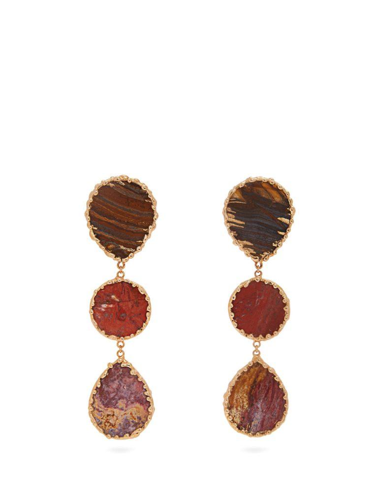 ROSANTICA BY MICHELA PANERO Wallace triple agate-drop earrings  $332