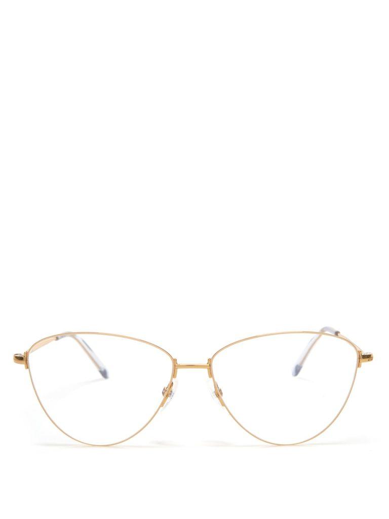 BALENCIAGA Cat-eye metal glasses $255