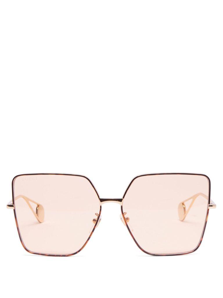 GUCCI Oversized square tortoiseshell-acetate sunglasses $338