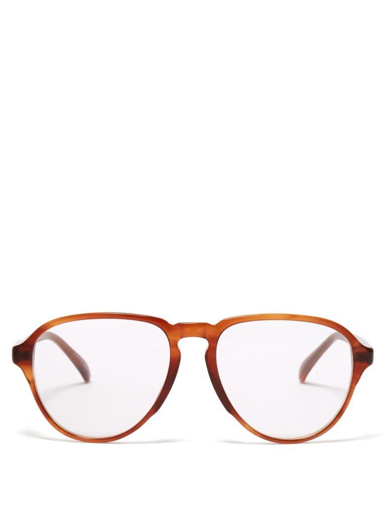 GIVENCHY Oversized aviator acetate glasses $163