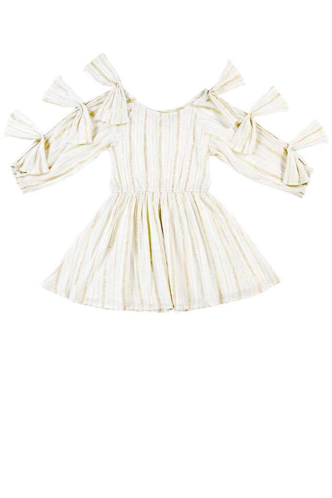 FRANCESCA DRESS - STRIPE LUREX $46.20