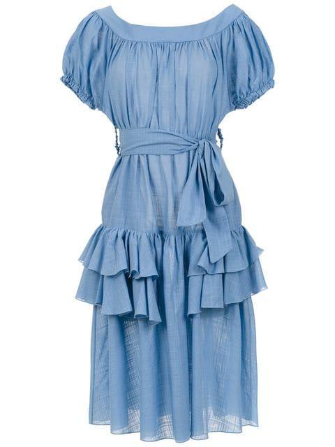 CLUBE BOSSA ruffled Florenz dress $374