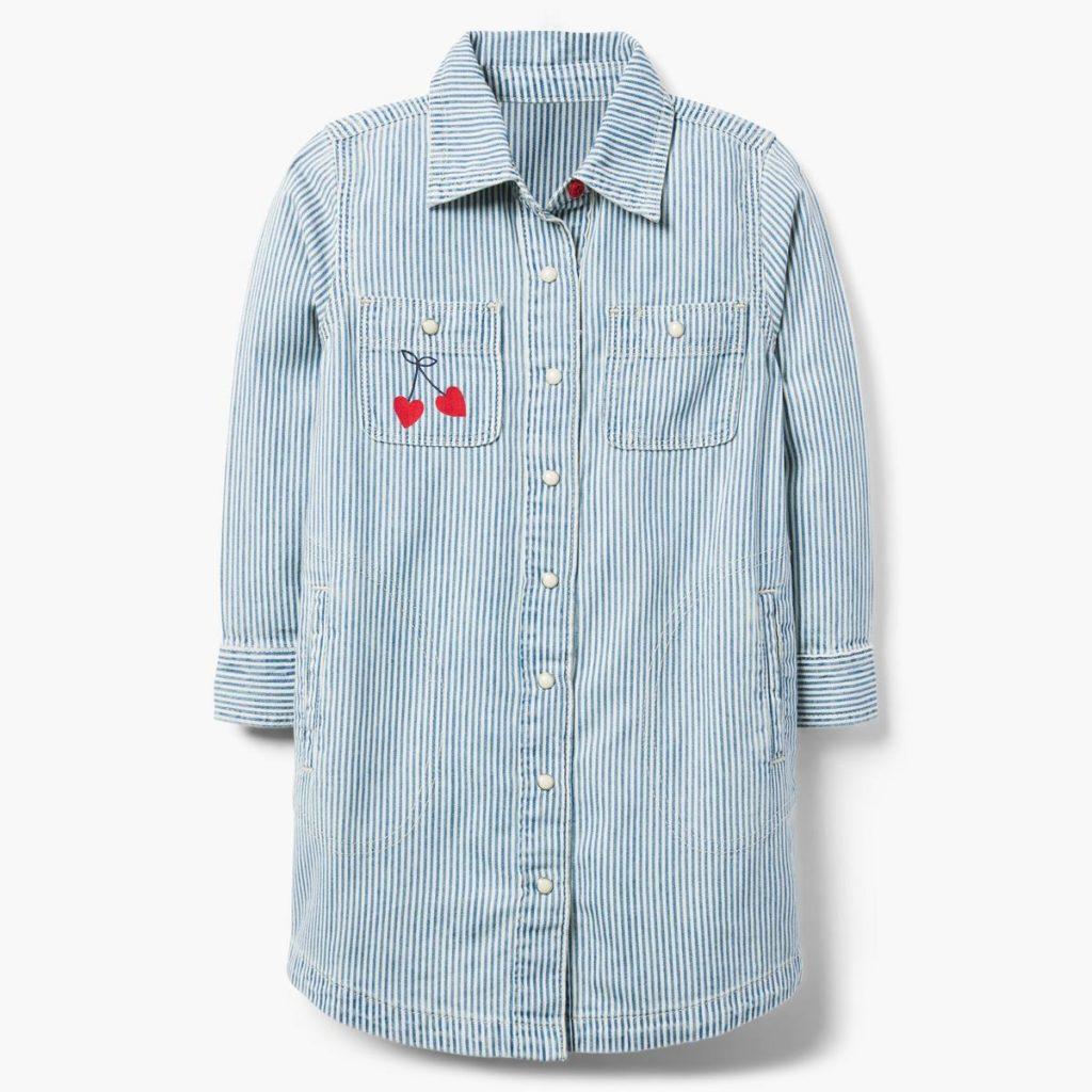 Striped Denim Shirtdress $27.65