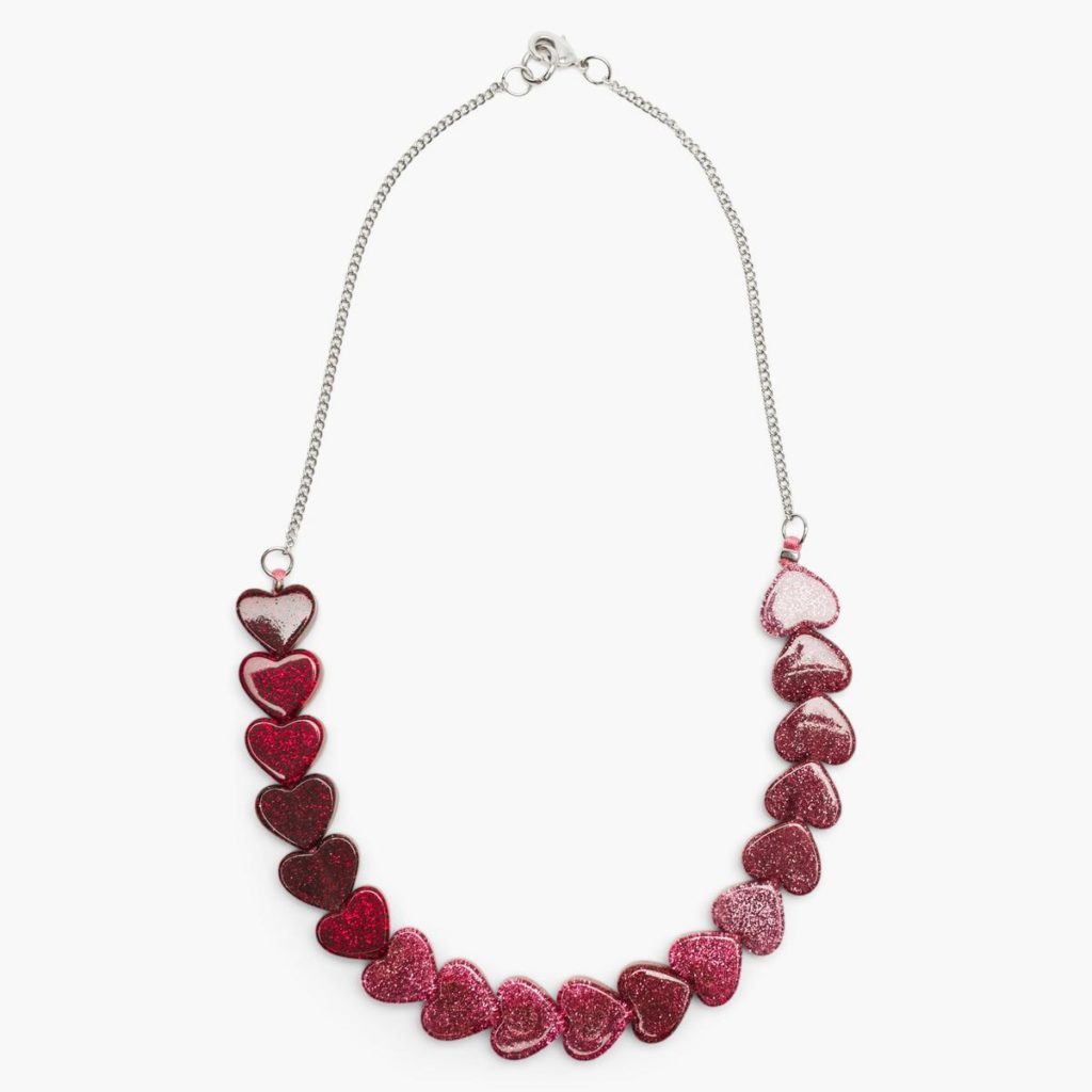 Glitter Heart Necklace $10.15