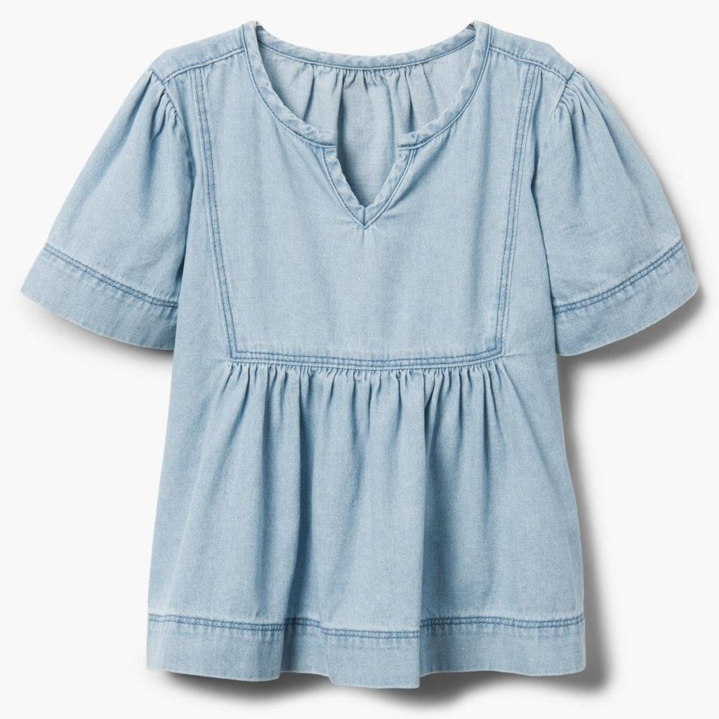 Chambray Flowy Top $24.15