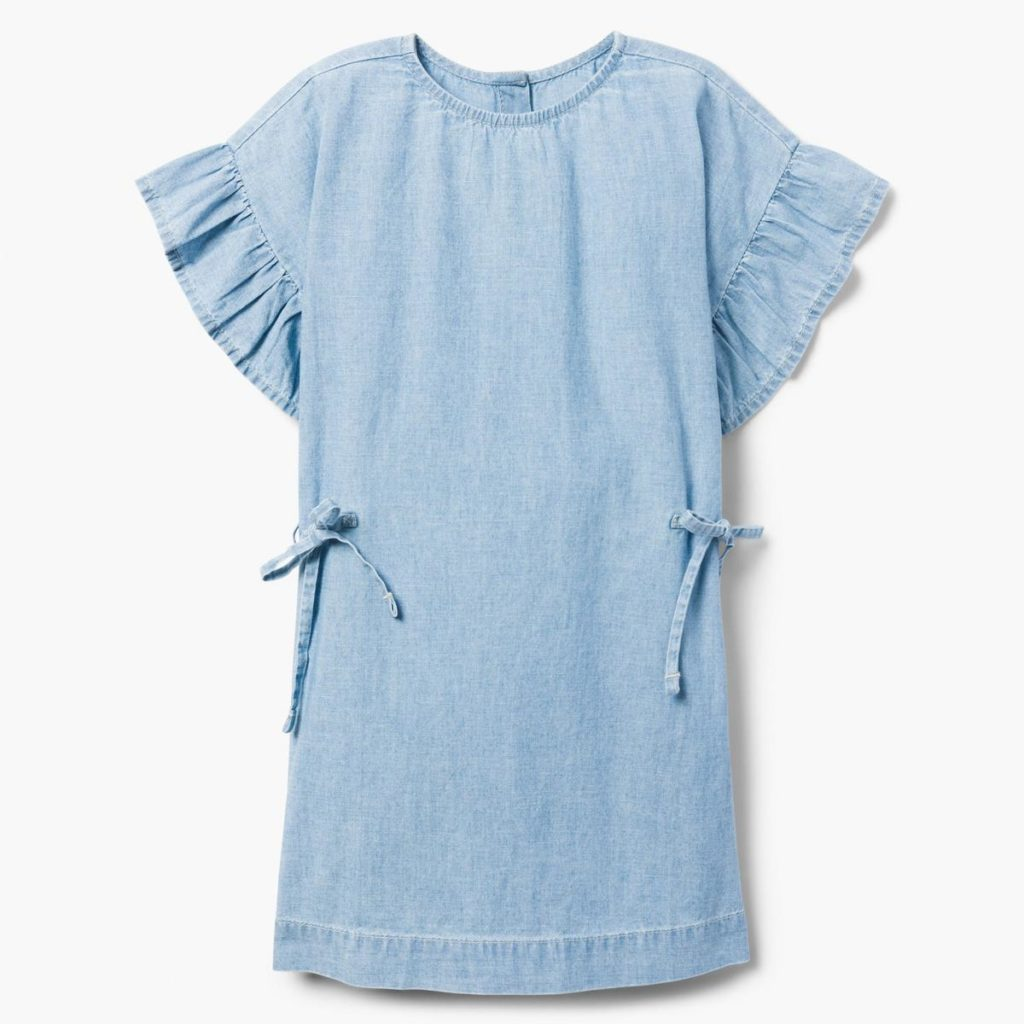 Chambray Ruffle Dress $31.15