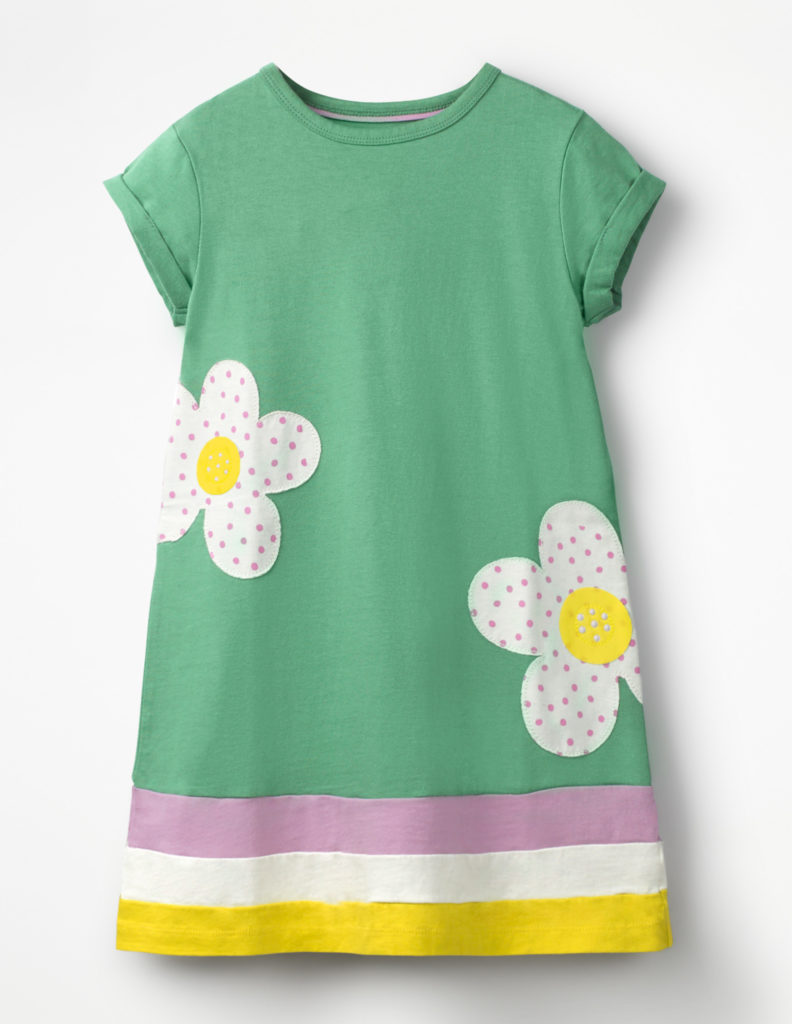 BIG APPLIQUÉ T-SHIRT DRESS $42.00