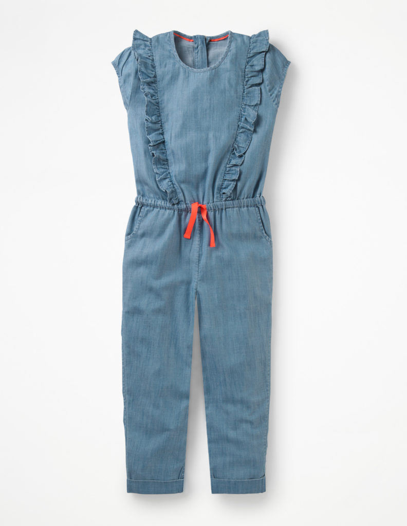 FRILLY WOVEN JUMPSUIT $60.00