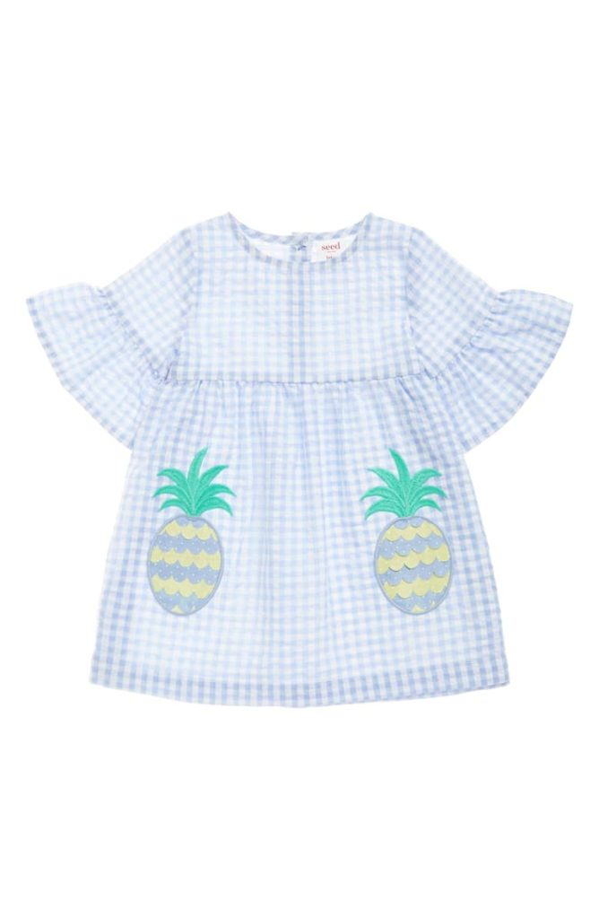 Pineapple Appliqué Dress SEED HERITAGE $30.00