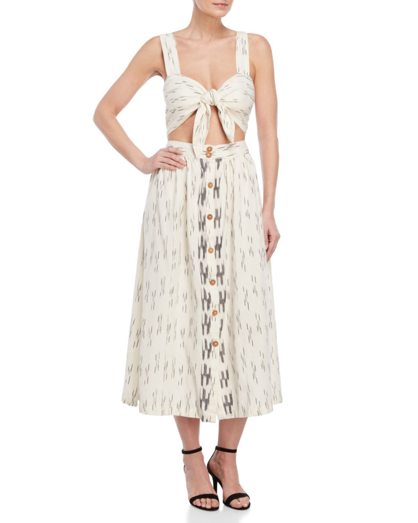 FREE PEOPLE Caldasi Cutout Midi Dress $59.99