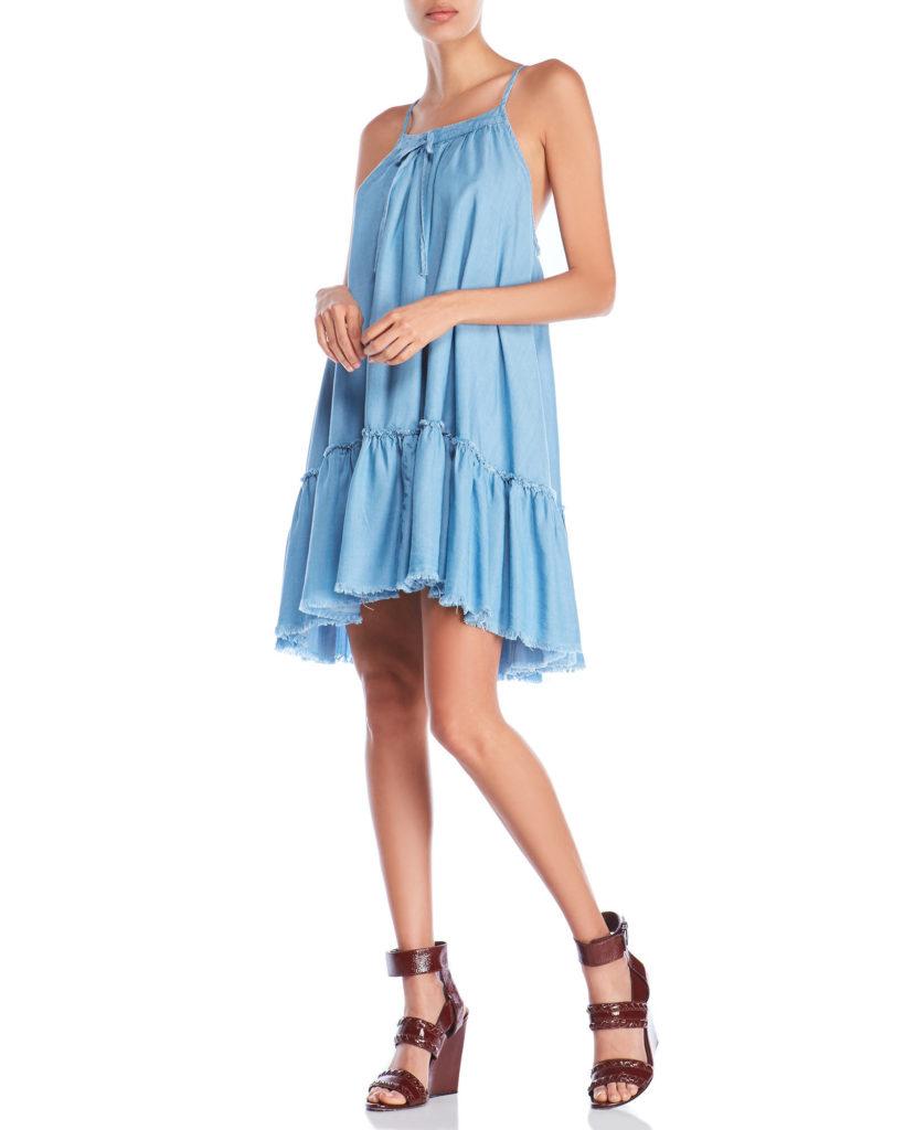 ROMEO + JULIET COUTURE Denim Racerback Trapeze Dress $29.99
