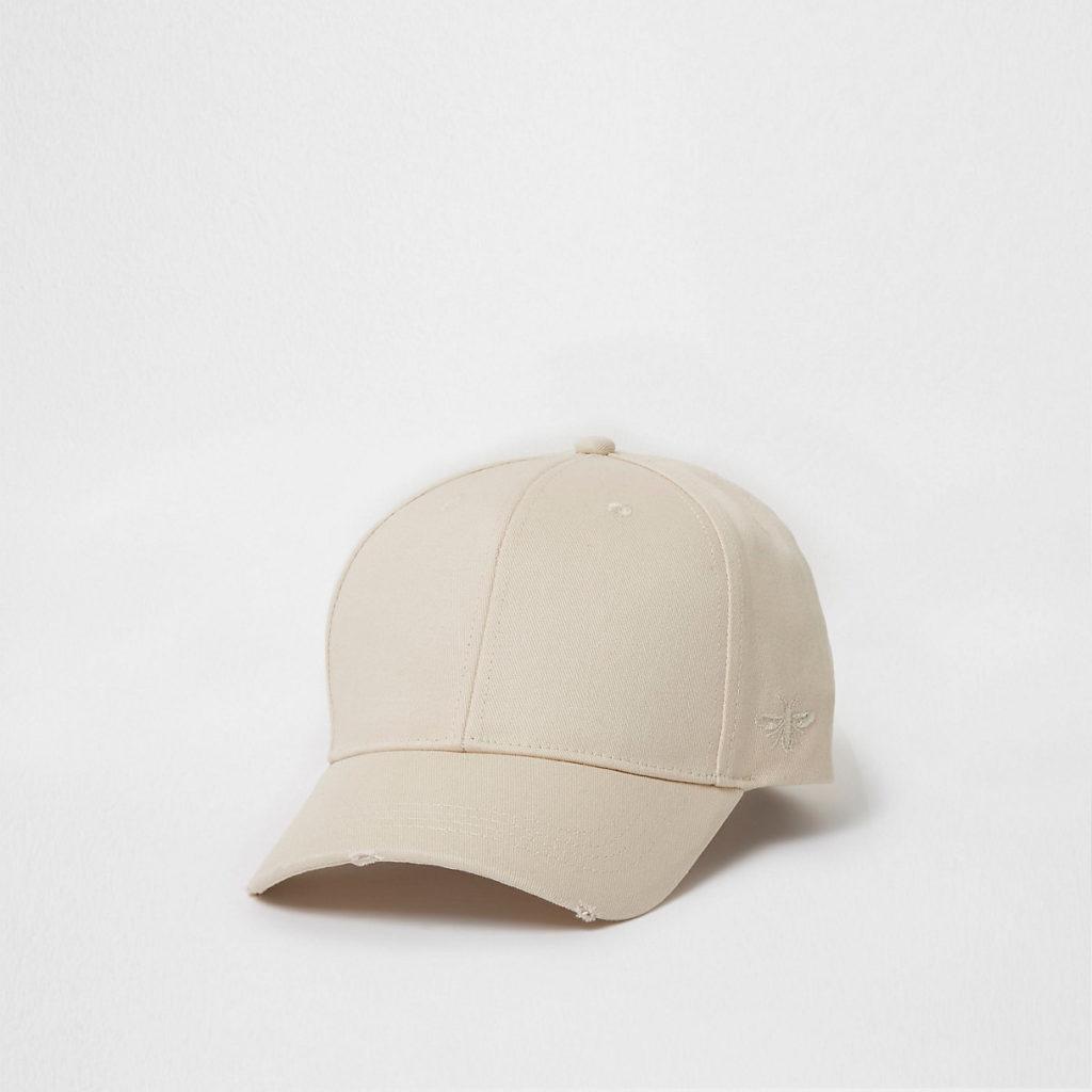 Cream wasp embroidered baseball cap $10.99