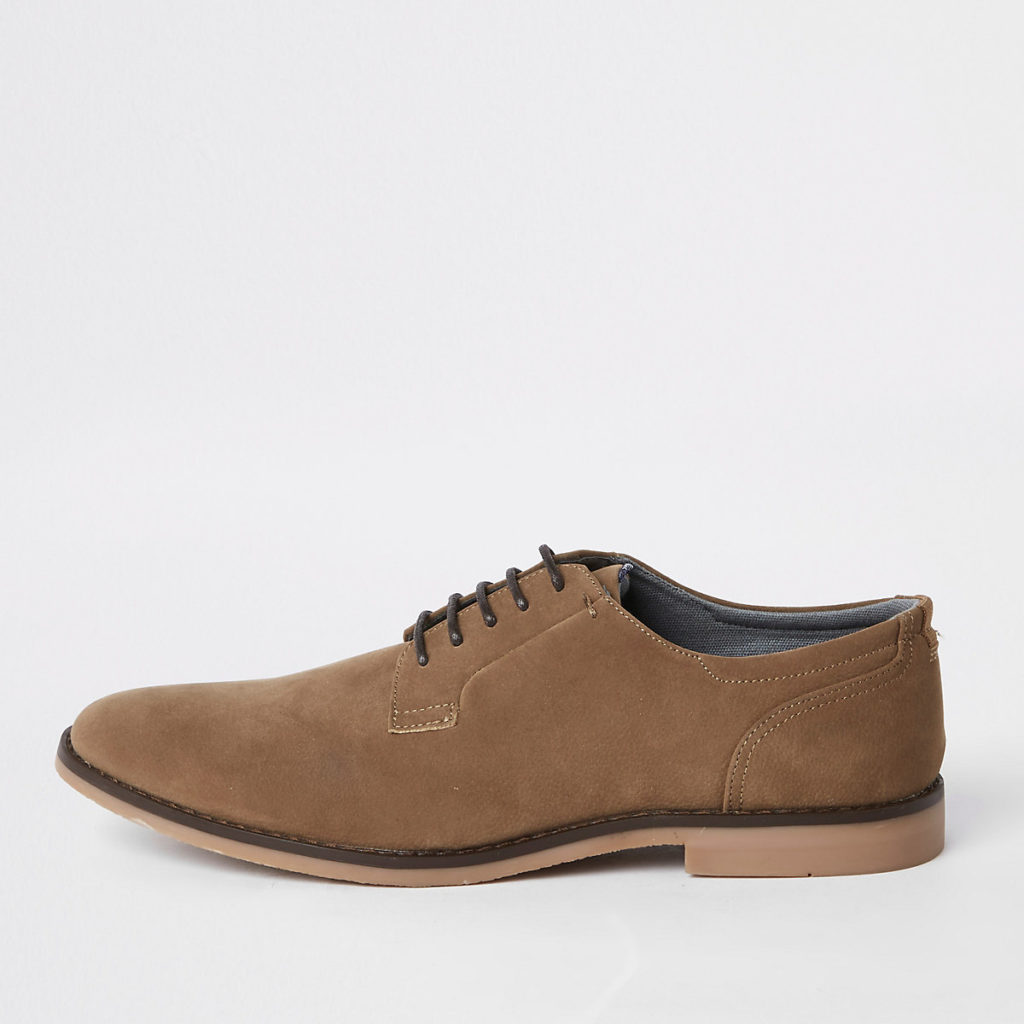 Textured lace-up smart shoes $80.00