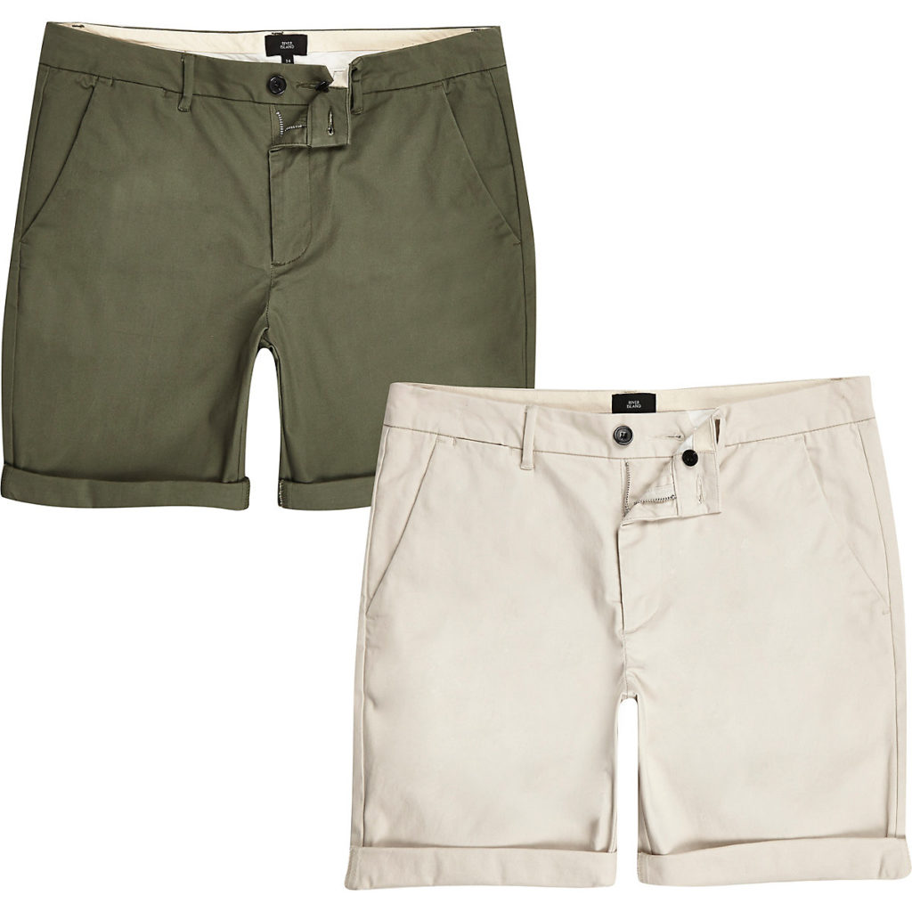 Stone skinny fit chino shorts 2 pack $60.00