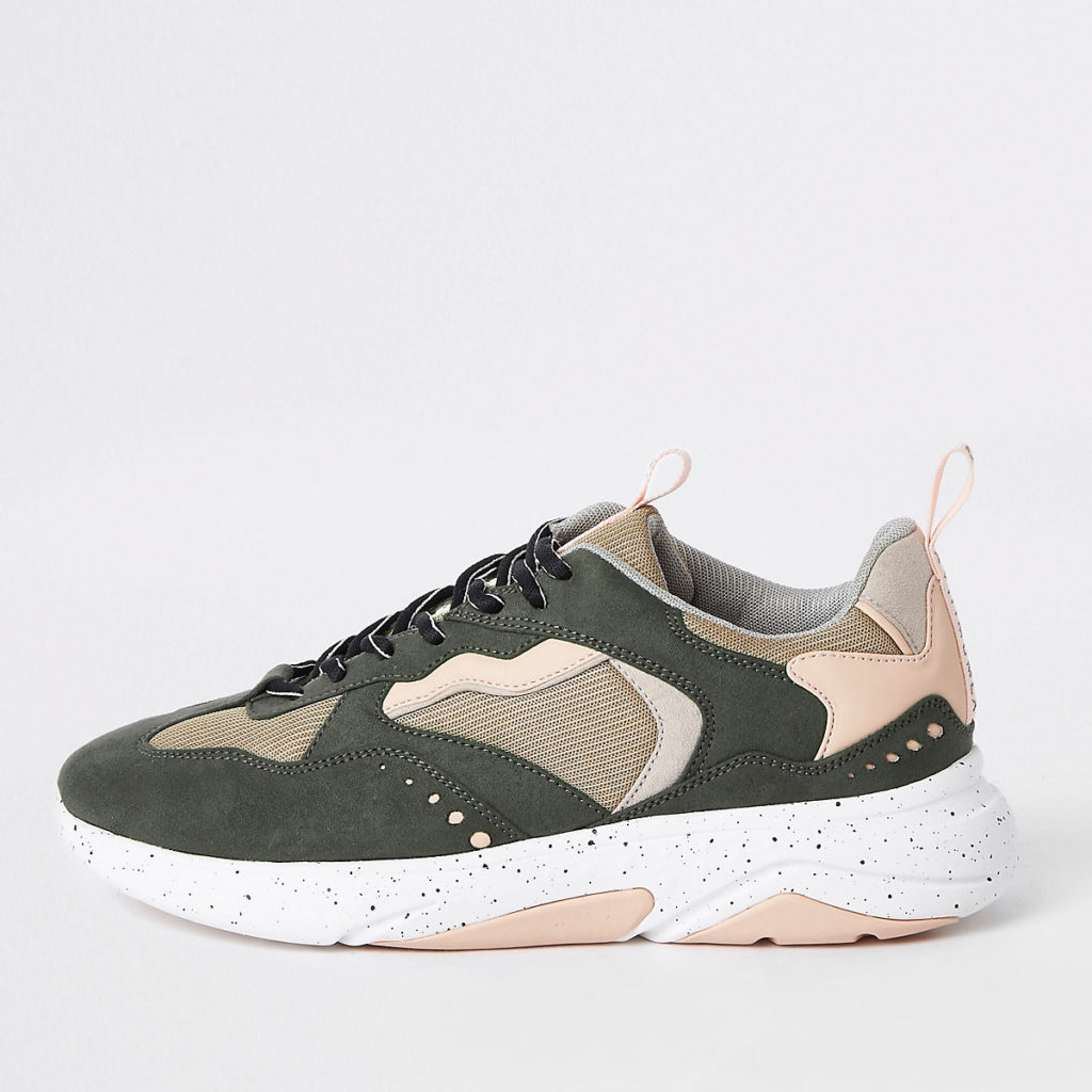 Khaki green camo 'MCMLXXVI' lace-up sneakers $90.00