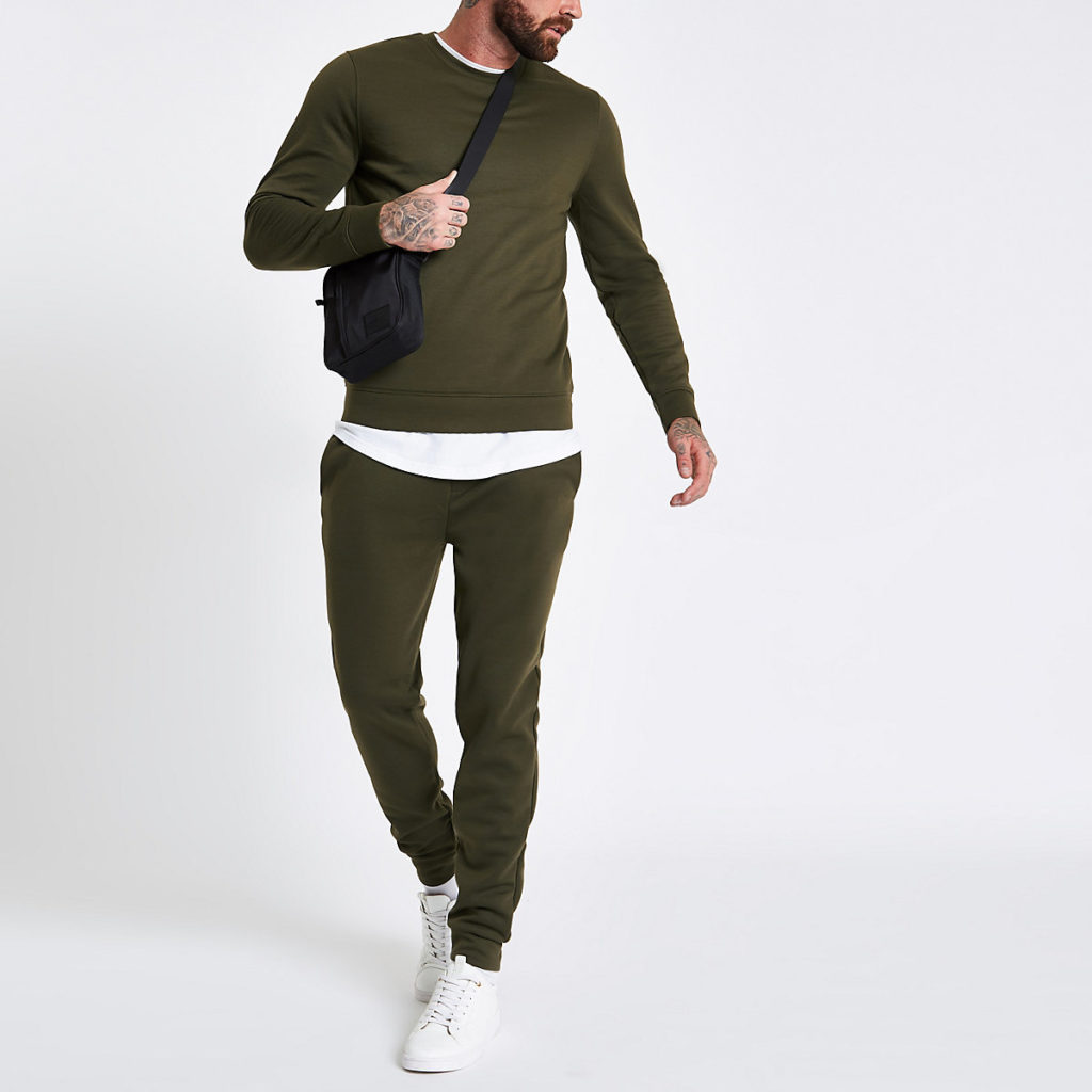Dark green crew neck long sleeve sweatshirt $44.00