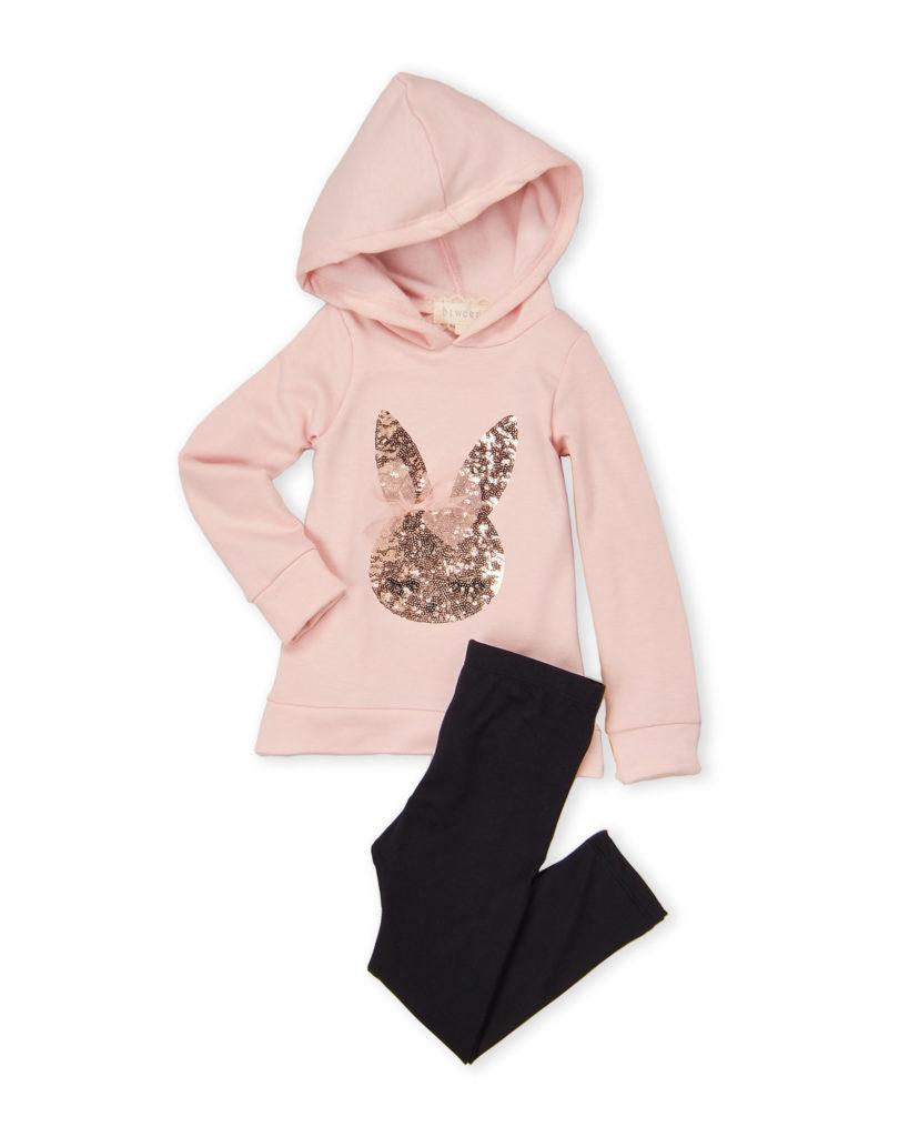 BTWEEN (Toddler Girls) Blush Two-Piece Fleece Hoodie & Leggings Set $16.99