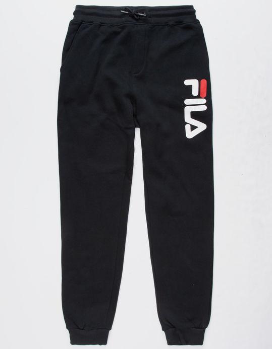 FILA Classic Logo Black Boys Jogger Pants $39.99