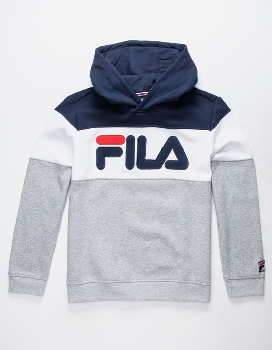 FILA Color Blocked Gray & Navy Boys Hoodie $29.99