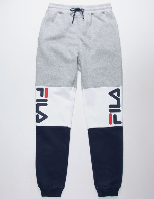 FILA Color Blocked Gray & Navy Boys Jogger Pants $39.99
