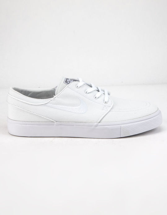 NIKE SB Zoom Stefan Janoski Canvas Gunsmoke Blanc Shoes $84.99