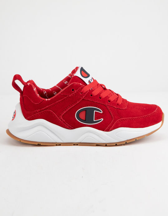 CHAMPION Life 93 Eighteen C Logo Scarlet Suede Boys Shoes $50.38