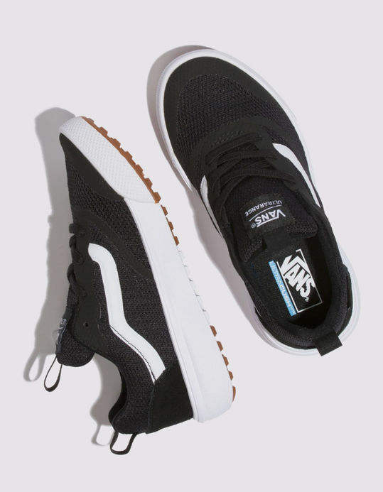VANS Ultrarange Rapidweld Black & True White Boys Shoes $64.99