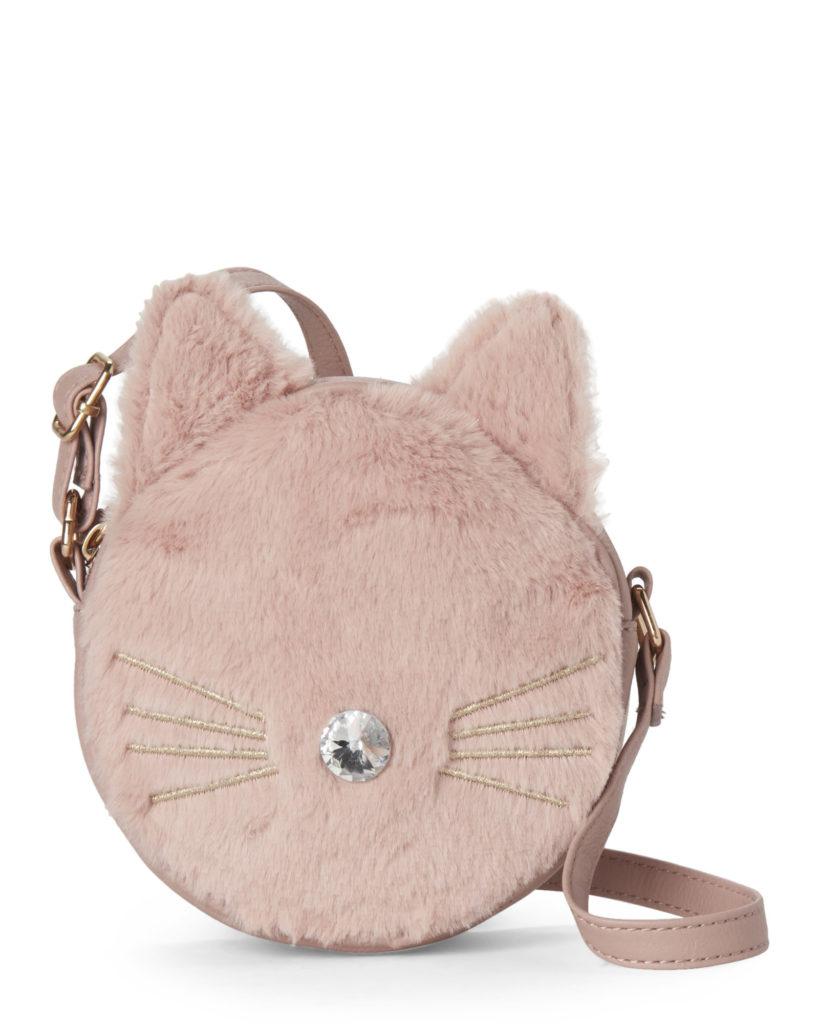 OMG! ACCESSORIES (Girls) Blush Faux Fur Kitty Crossbody $14.99