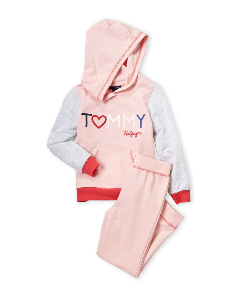 TOMMY HILFIGER (Girls 4-6x) Two-Piece Logo Hoodie & Sweatpants Set $24.99