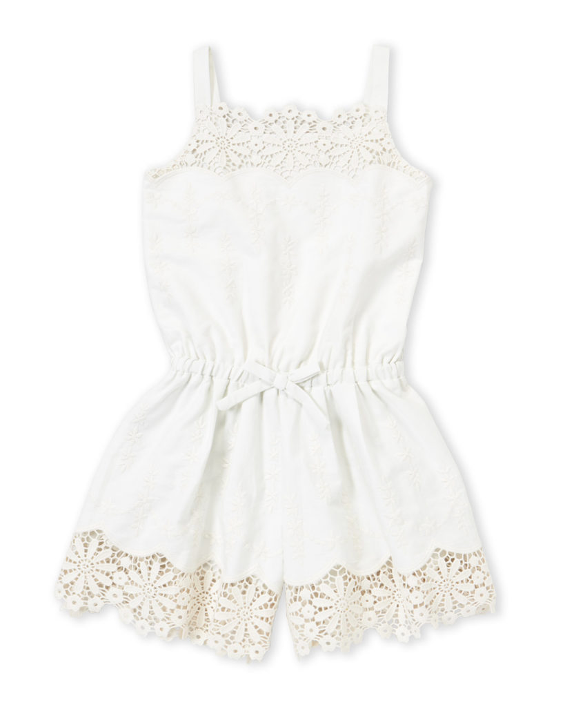 KATE MACK FOR BISCOTTI (Girls 4-6x) Woven Embroidered Romper $29.99