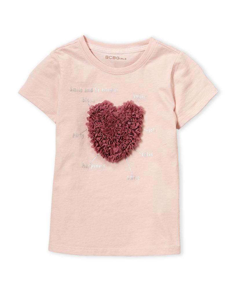 BCBGIRLS (Girls 4-6x) Heart Appliqué Tee $9.99