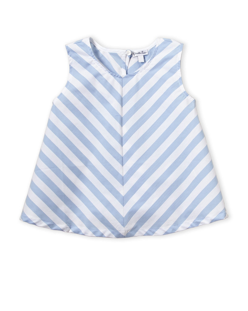 PICCOLA LUDO (Girls 4-6x) White & Light Blue Top $16.99