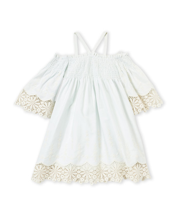 BISCOTTI (Girls 4-6x) Smocked Cold Shoulder Dress $29.99