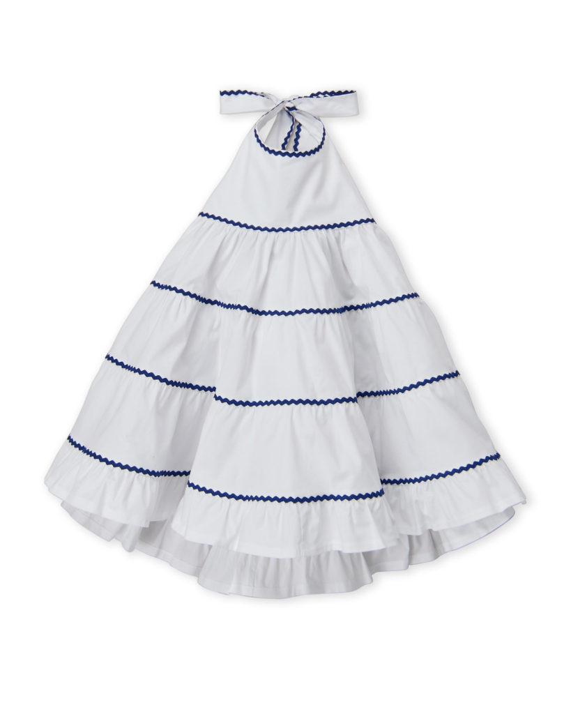 PICCOLA LUDO (Girls 4-6x) Tiered Halter Neck Cotton Dress $29.99