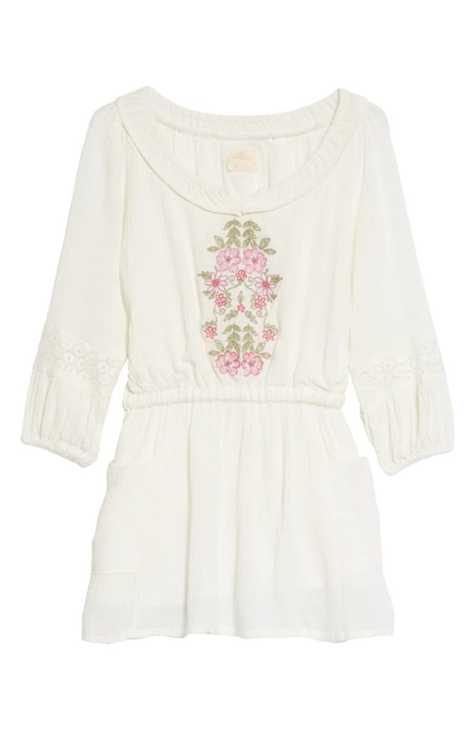 Malina Floral Embroidered Dress O