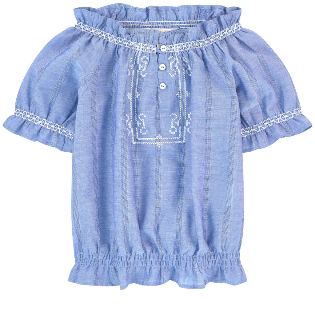 LILI GAUFRETTE Chambray blouse $77