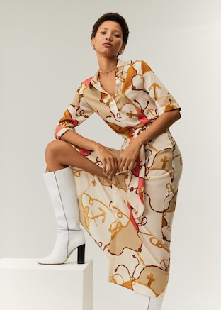 Chain print dress $99.99