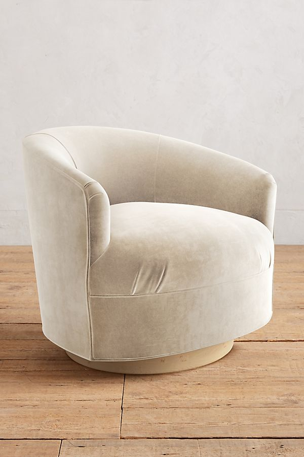 Velvet Amoret Swivel Chair $1,168.00