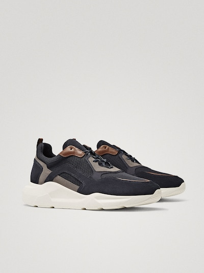 COMBINED BLUE SNEAKERS $130.00