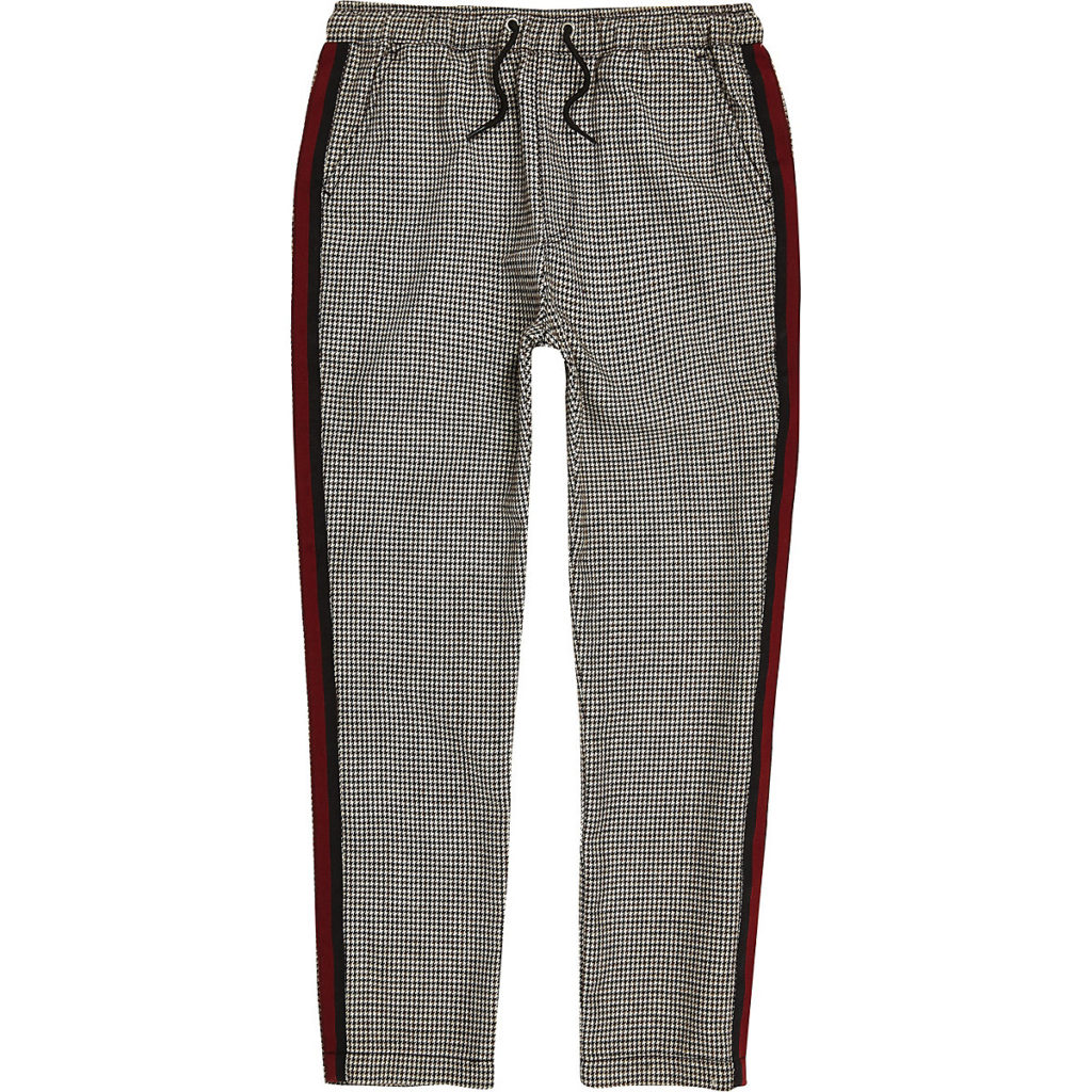 Boys check tape pants $40.00