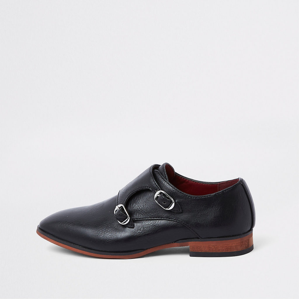 monk strap pointed shoes $44.00