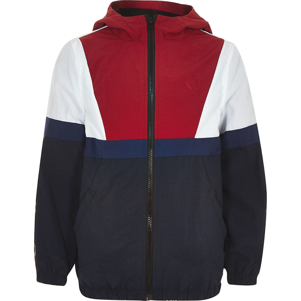 Boys navy 'atelier' lightweight track jacket $60.00