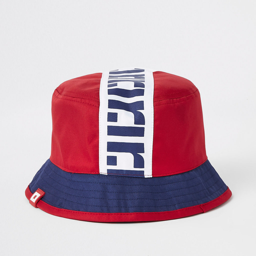Boys red RI reversible bucket hat $20.00