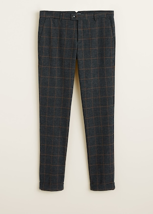 Regular-fit mixed structure trousers $89.99
