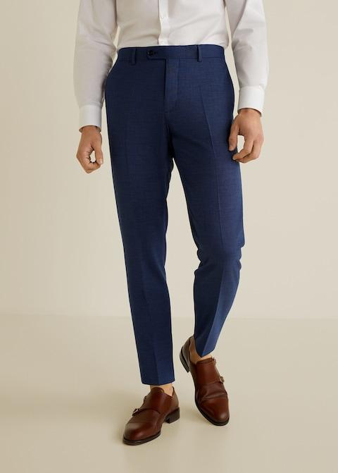 Slim-fit patterned suit trousers $69.99