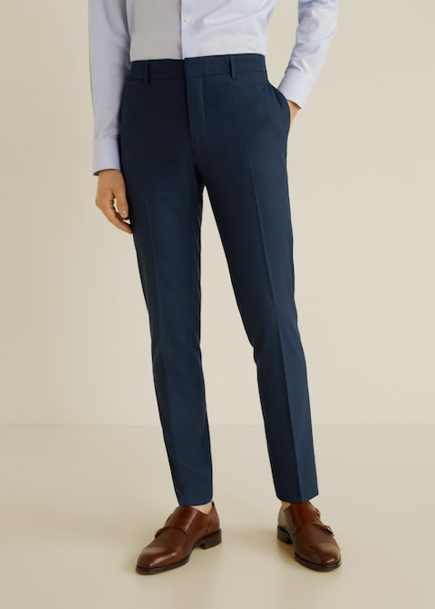 Pinstripe slim-fit suit trousers $69.99