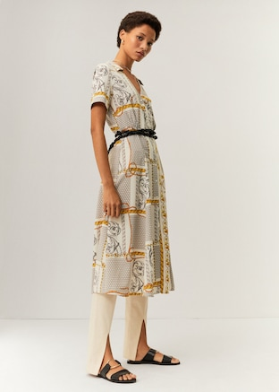 Midi printed dress $79.99