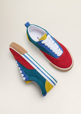 Suede mixed sneakers $59.99