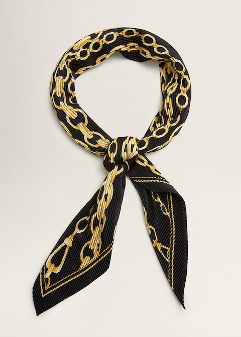 Chain pleated scarf $29.99