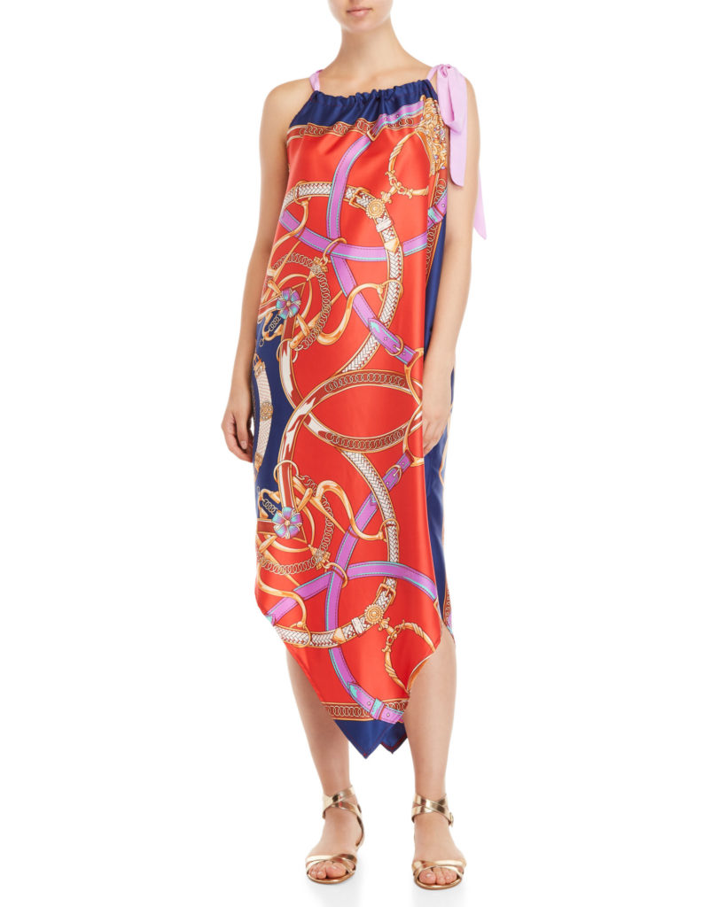 AUM-COUTURE Printed Silk Cover-Up Dress $99.99